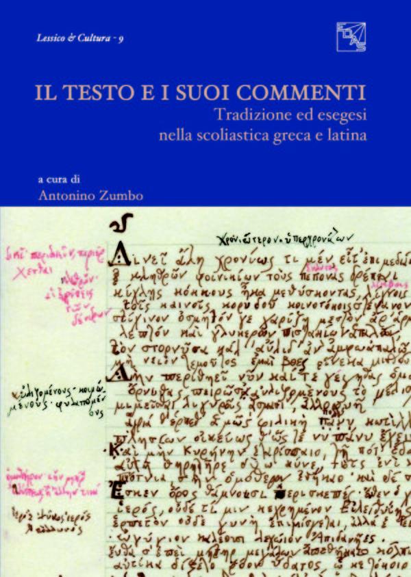 copertina zumbo colace Tradizione ed esegesi nella scoliastica greca e latina